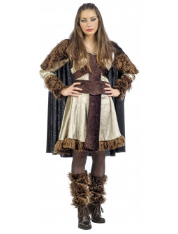 Disfraz de Guerrera Medieval con Capa