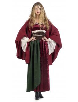 Capa de Princesa Medieval Roja