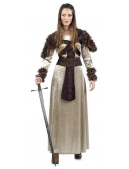 Vestido de Doncella Guerrera Medieval para Mujer
