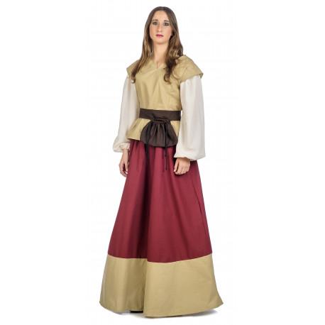 Vestido de Campesina Medieval Rosa