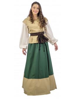 Vestido de Campesina Medieval Verde