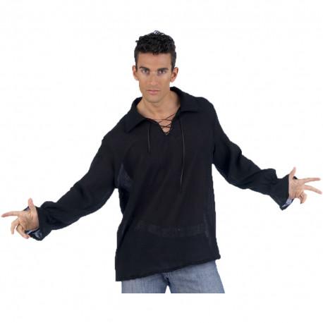 Camisa Medieval Negra para Hombre