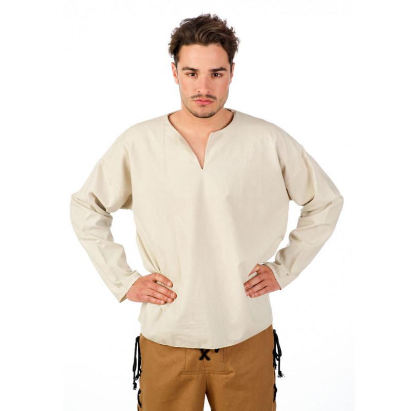 6b1b6122c en en para Medieval Camisa Online Beige Hombre Comprar 7xwzgPBn5q