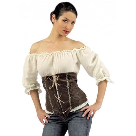 Camisa con Corpiño Medieval para Mujer