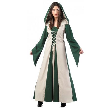 Disfraz de Hechicera Medieval Verde