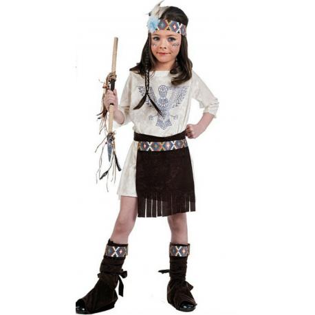 Disfraz de India para Niña Beige