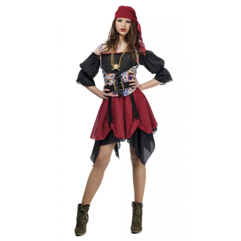 Disfraz de Pirata Malvada para Mujer Adulta  66869a78dd5