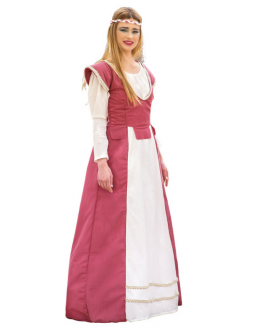 Disfraz de Princesa Medieval Rosa