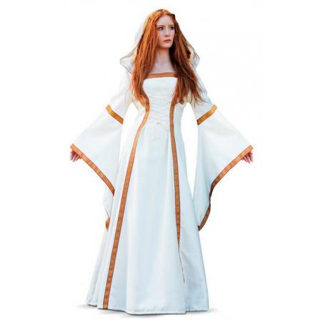 6661fc3d5 Vestido Medieval en Blanco Roto para Mujer