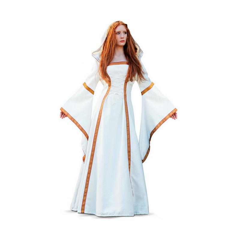 84e17260a Vestido Medieval en Blanco Roto para Mujer
