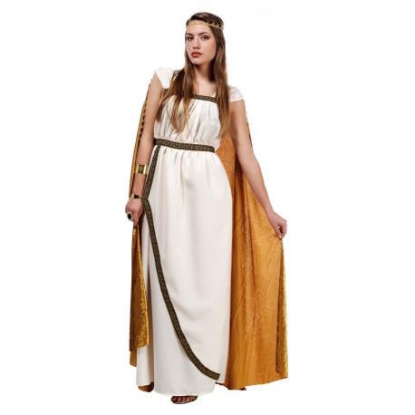 Disfraz de Troyana en Oro para mujer