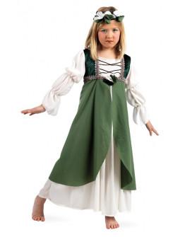 Disfraz de Clarisa Medieval Verde