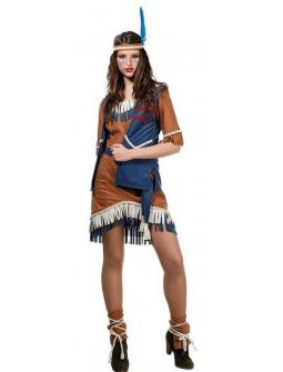 Disfraz de India Apache con chaleco