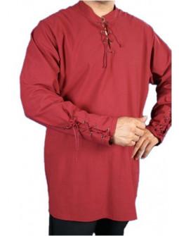 Camisa Medieval Granate Hombre