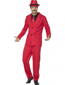 Disfraz de Gangster Rojo para Hombre
