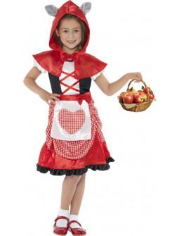 Disfraz de Caperucita Roja con orejas de lobo feroz