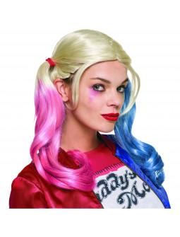 Peluca de Harley Quinn Escuadrón Suicida