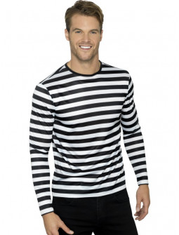 Camiseta de Rayas Negras y Blancas