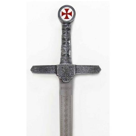 Espada Templaria Rústica de Acero