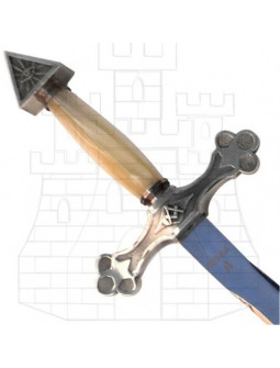 Espada Masona Plateada con Puño en Nácar