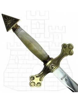 Espada Masona Dorada con Puño en Nácar