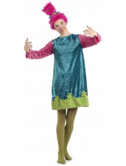 Disfraz de Troll Poppy para Mujer