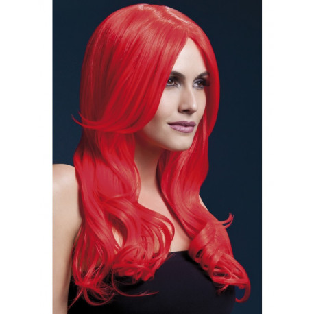 Peluca Roja Ondulada Premium