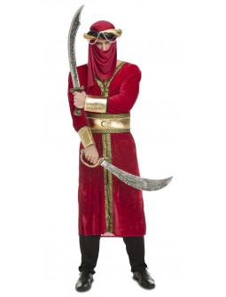 Disfraz de Guerrero Árabe Rojo para Hombre
