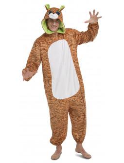 Disfraz de Tigre Ojazos Pijama para Adulto