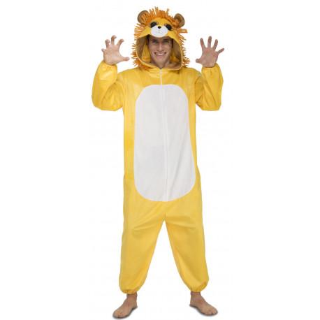 Disfraz de León Ojazos Pijama para Adulto