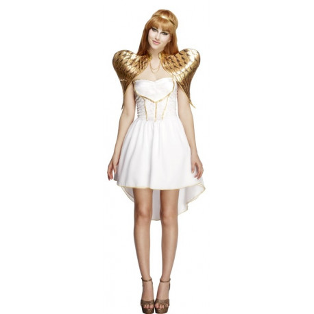 Disfraz de Ángel Corto para Mujer