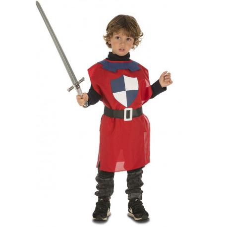Peto Medieval Rojo para Niño