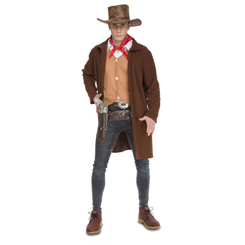 37367f586991a Disfraz de Vaquero con Abrigo para Hombre