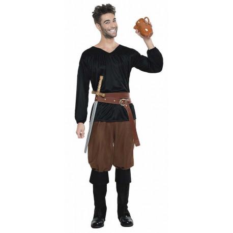 Disfraz de Campesino Medieval Oscuro para Hombre