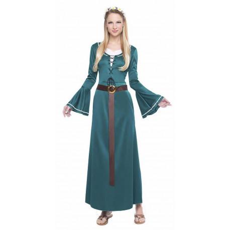 Disfraz de Damisela Medieval Verde para Mujer