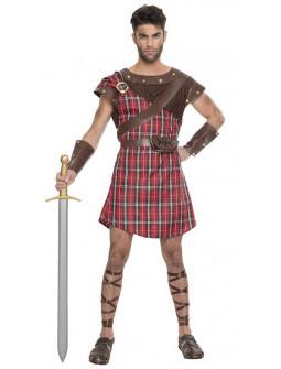 Disfraz de Guerrero Escocés Rojo para Hombre