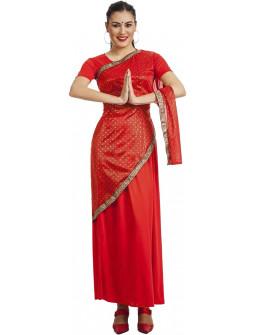 Disfraz de Bollywood Rojo para Mujer