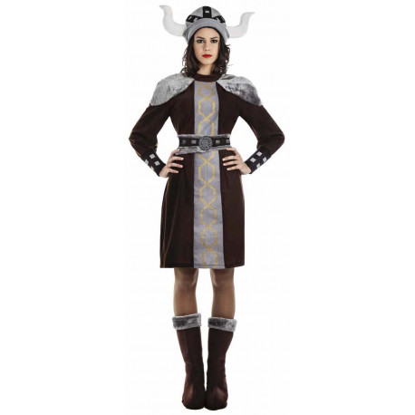 Disfraz de Vikinga Oscura para Mujer