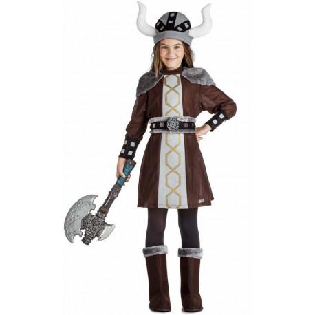 Disfraz de Vikinga Oscura para Niña