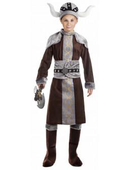 Disfraz de Vikingo Oscuro para Niño