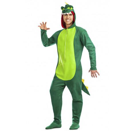 Disfraz de Dragón Verde para Adulto