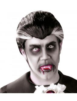 Peluca de Vampiro Blanca y Negra