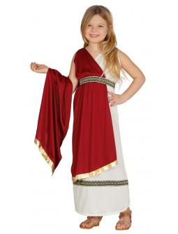 Disfraz de Dama Romana Granate para Niña