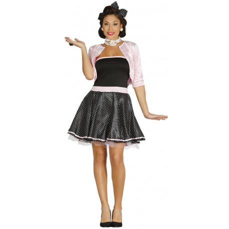 Disfraz de Años 50 con Chaqueta para Mujer