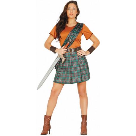 Disfraz de Braveheart para Mujer
