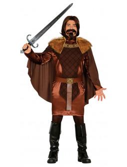 Disfraz de Caballero Medieval Marrón para Hombre