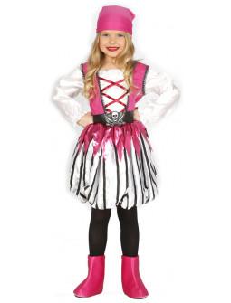 Disfraz de Bucanera Rosa para Niña