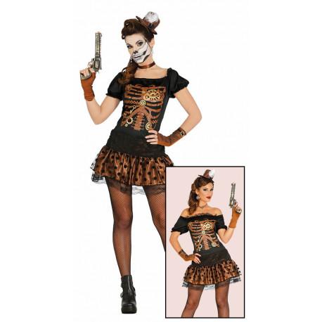 Disfraz de Esqueleto Steampunk para Mujer