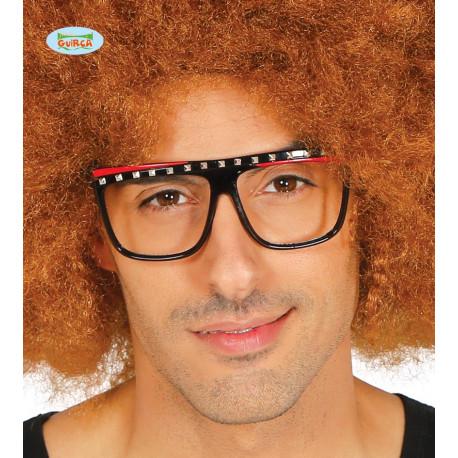 Gafas Negras con Tachuelas