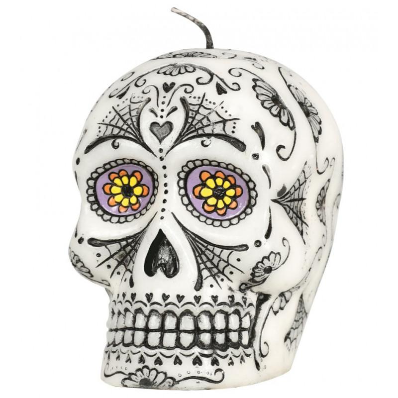 Vela De Calavera Mexicana Para Halloween Comprar Online